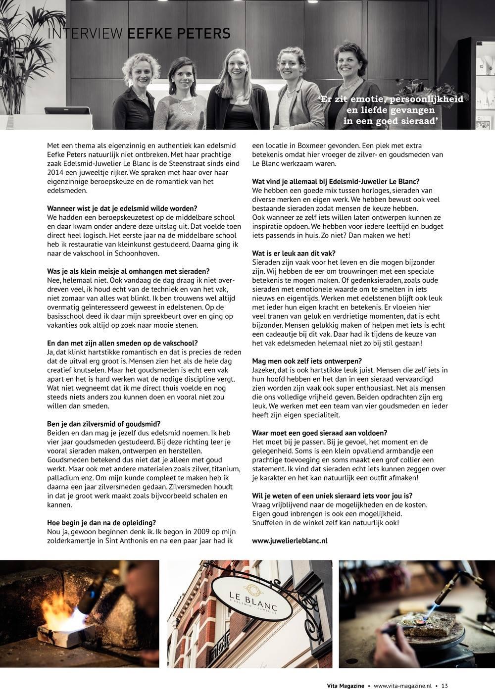 Interview met Eefke  …