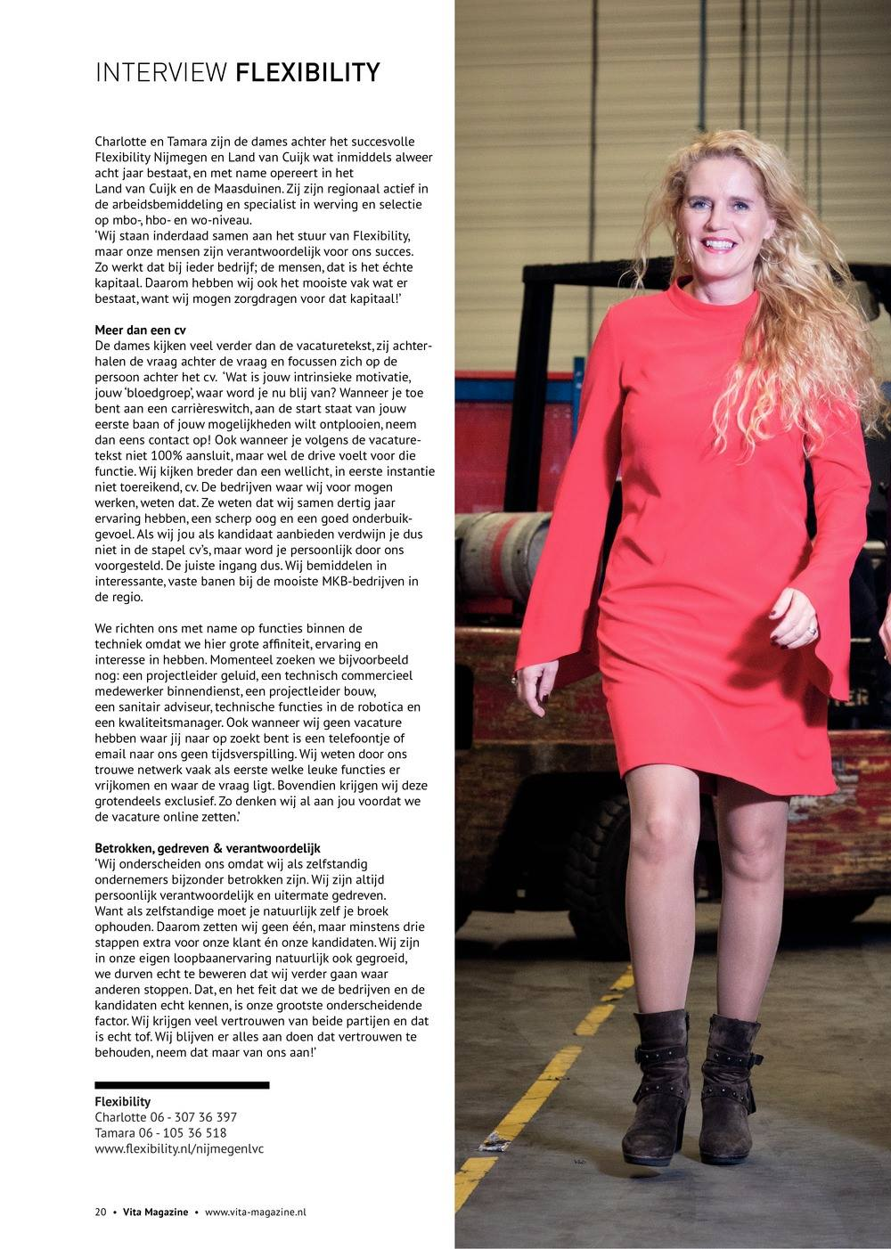 Na ons interview, de  …