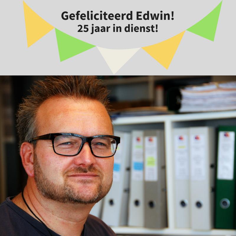 Onze medewerker Edwin van Berkel is vandaag 25  …