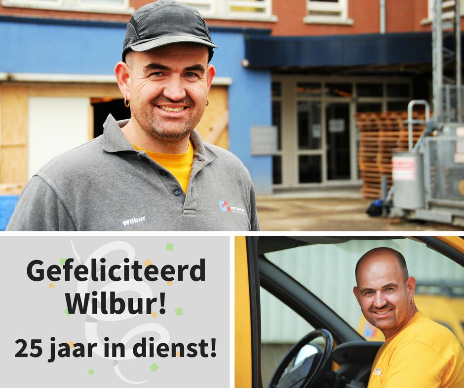 De jubileumviering voor onze medewerker Wilbur  …