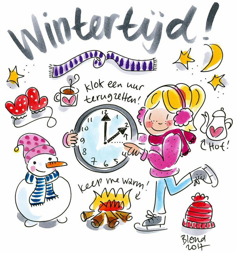 ❄️ wintertijd ❄️ een uur  …