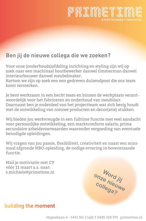 Primetime eventtechniek + inrichting added a new photo.  …