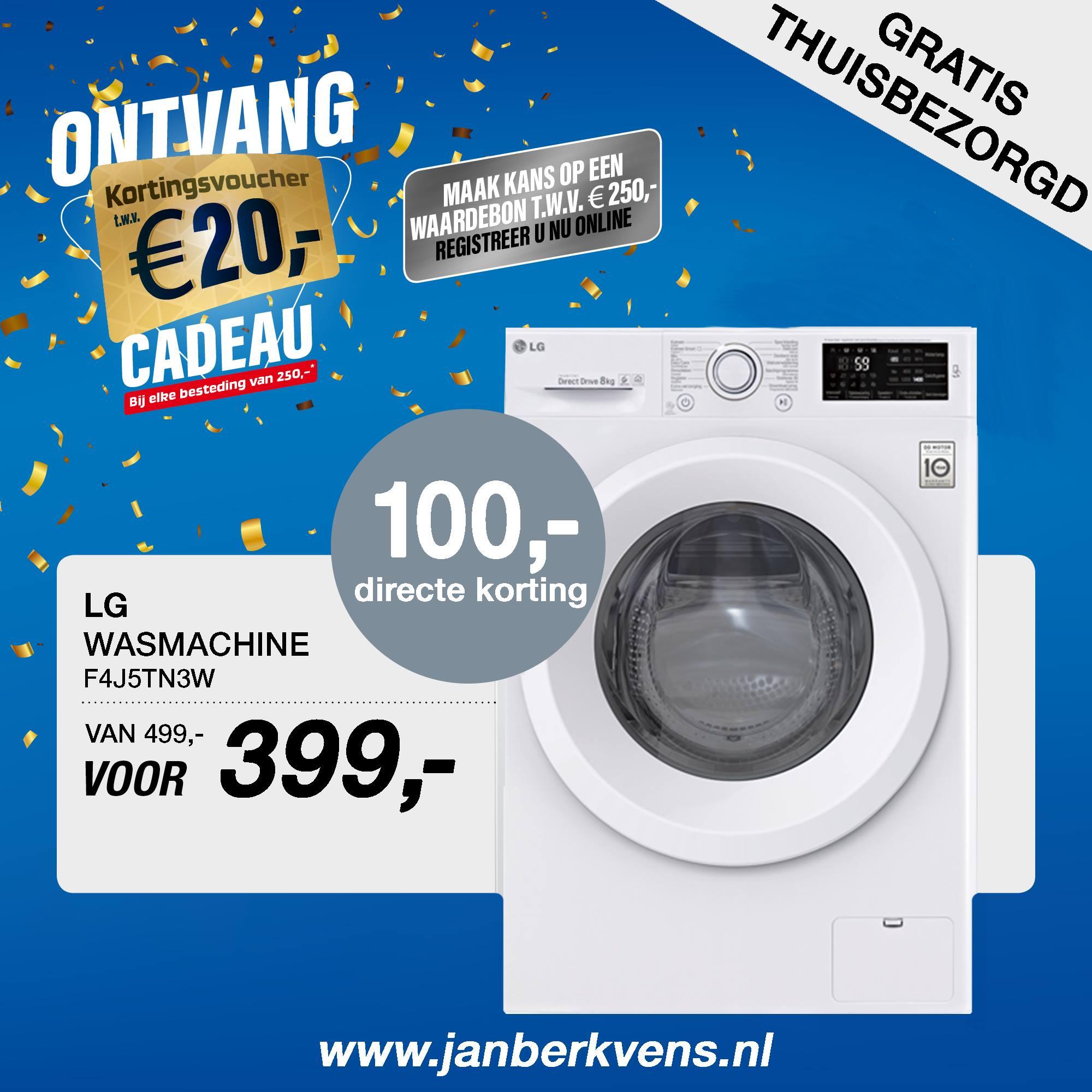 LG wasmachine f4j5tn3w   …